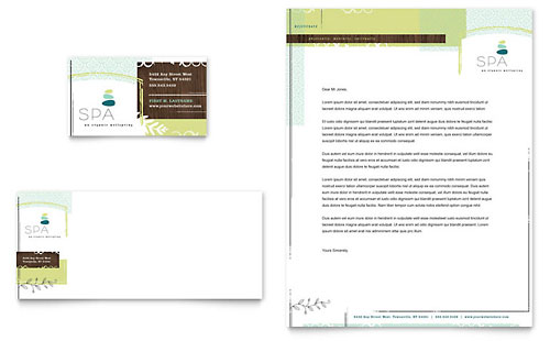 Day Spa Business Card & Letterhead Template