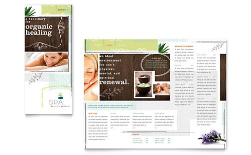 Day Spa Tri Fold Brochure Template