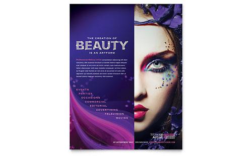 Makeup Artist Flyer Template