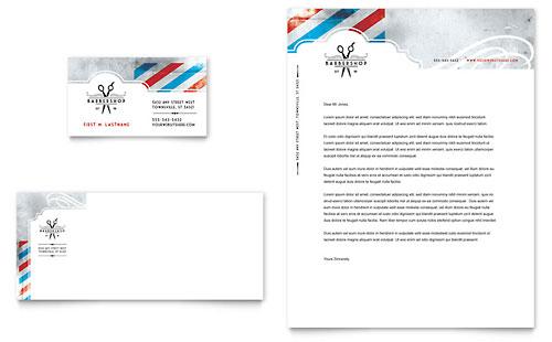Barbershop Business Card & Letterhead Template