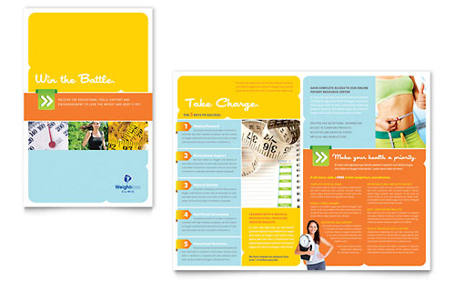 Weight Loss Clinic Brochure Template