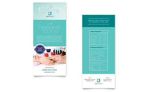Nail Technician Rack Card Template