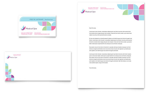 Medical Spa Business Card & Letterhead Template