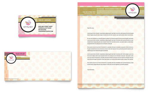 Hairstylist - Business Card & Letterhead Template