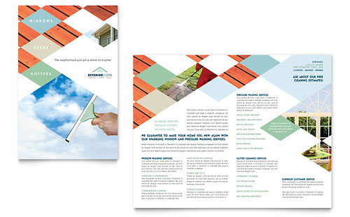 Cleaning services brochure template design for It services brochure template