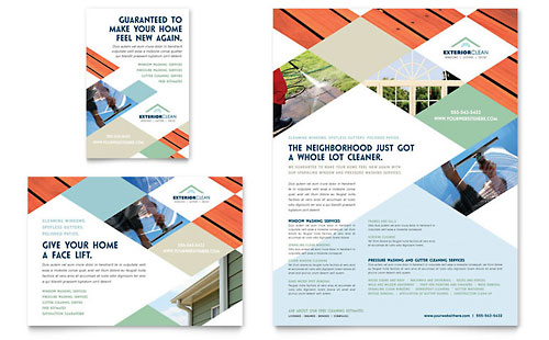 Window Cleaning & Pressure Washing Flyer & Ad Template