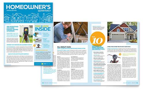Home Inspection & Inspector Newsletter Template