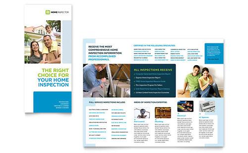 Home Inspection & Inspector - Tri Fold Brochure Template