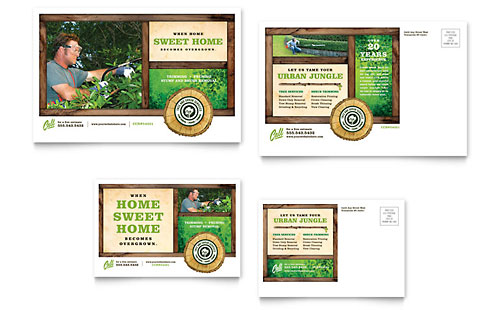 Tree Service Postcard Template