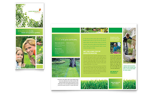 Lawn Mowing Service Brochure Template