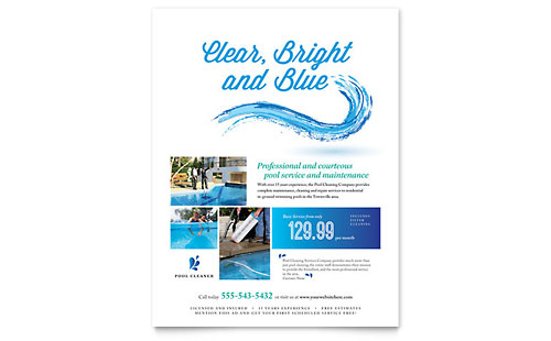 Pool Service - Flyer Template