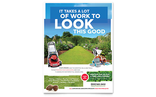 Landscaping - Flyer Template