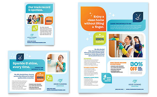 Cleaning Services Print Ad Template