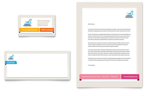Carpet Cleaning Stationery Template