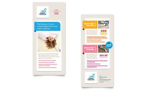 Carpet Cleaning Rack Card Template