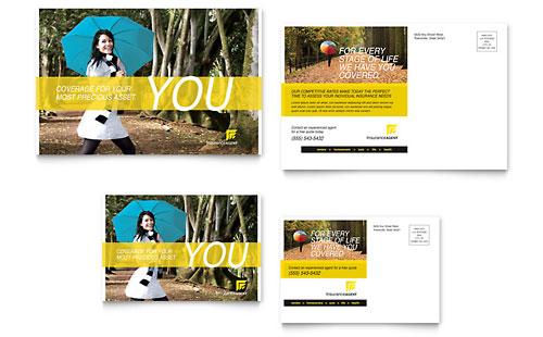 Insurance Agent Postcard Template