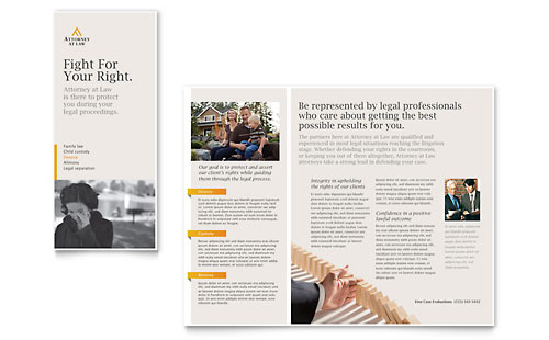 Legal Advocacy Tri Fold Brochure Template