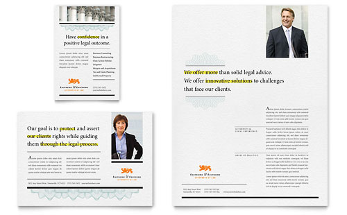 Attorney Flyer & Ad Template