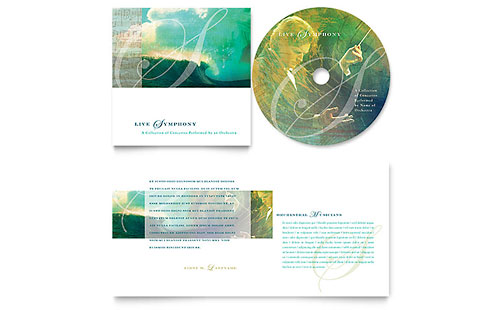 Symphony Orchestra Concert Event CD Booklet Template