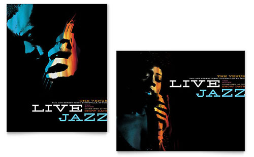 Jazz Music Event Poster Template