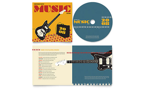Live Music Festival Event CD Booklet Template