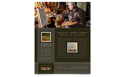 Art Gallery & Artist - Flyer Template