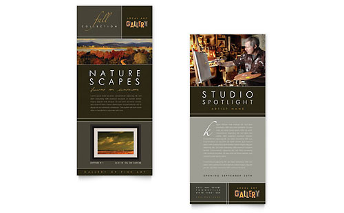 Art Gallery & Artist Rack Card Template