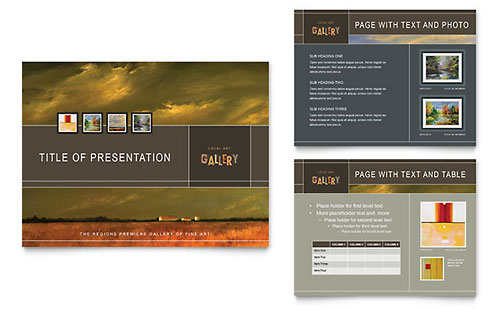 Art Gallery & Artist PowerPoint Presentation Template