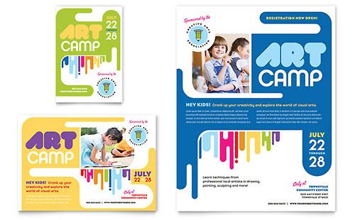 Kids Art Camp Flyer & Ad Template