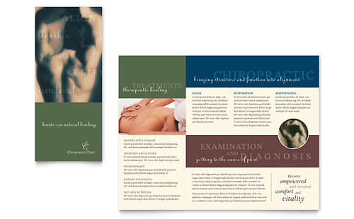 Chiropractor - Brochure Template