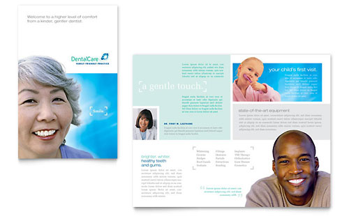 Dental Care Brochure Template