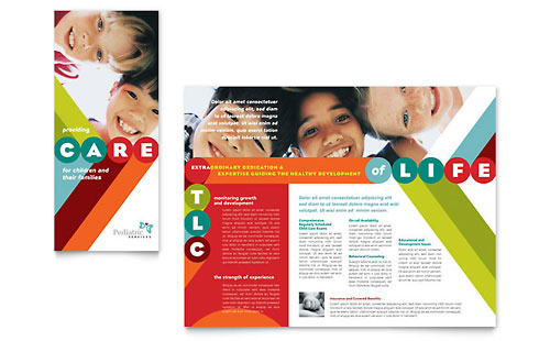 Pediatrician & Child Care - Brochure Template