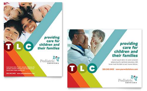 Pediatrician & Child Care Poster Template