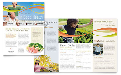 Health Insurance Company Newsletter Template