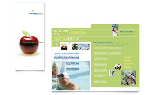 Healthcare Management Tri Fold Brochure Template