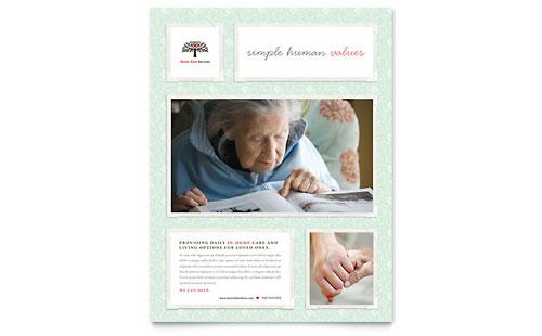 Senior Care Services Flyer Template