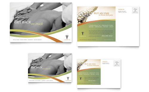 Massage & Chiropractic Postcard Template