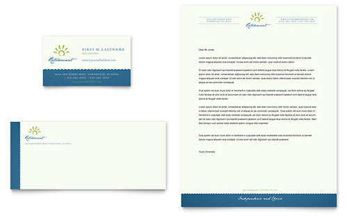 Senior Living Community Business Card & Letterhead Template