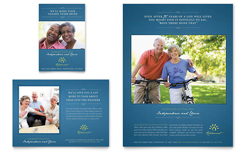 Senior Living Community Flyer & Ad Template