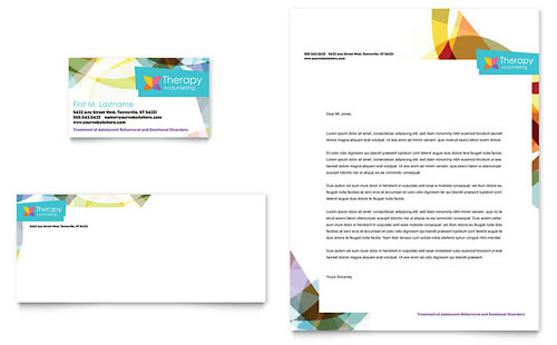 Adolescent Counseling - Business Card & Letterhead Template