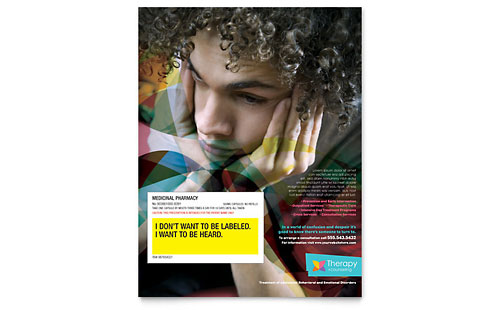 Adolescent Counseling - Flyer Template