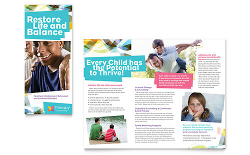 Adolescent Counseling Tri Fold Brochure Template
