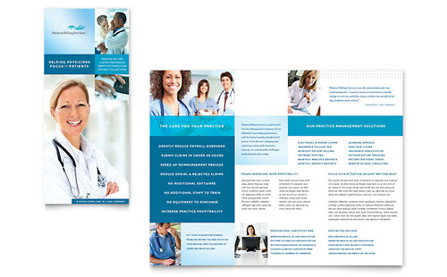Medical Billing & Coding Tri Fold Brochure Template