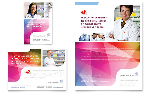 Pharmacy School - Flyer & Ad Template