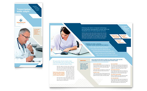Medical Transcription Tri Fold Brochure Template