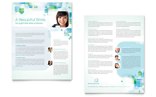 Orthodontist Datasheet Template