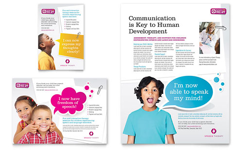 Speech Therapy Education - Flyer & Ad Template