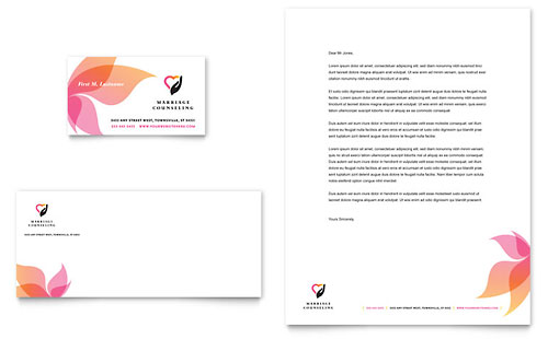Marriage Counseling Business Card & Letterhead Template