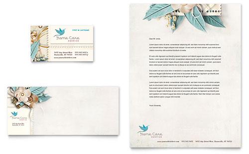 Hospice & Home Care - Business Card & Letterhead Template