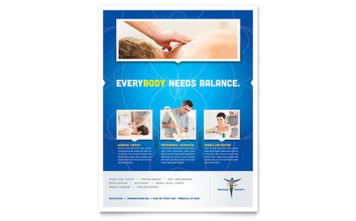 Reflexology & Massage - Flyer Template